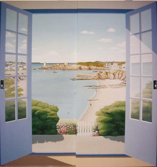 Trompe oeil et peintures sur murs page 7 of oeil de porte - Peinture porte d entree ...